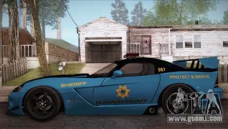 Dodge Viper SRT 10 ACR Police Car for GTA San Andreas left view