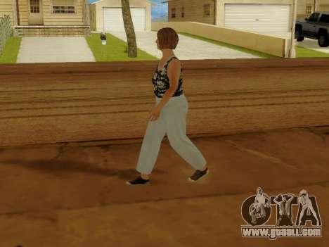 An elderly woman v.2 for GTA San Andreas fifth screenshot