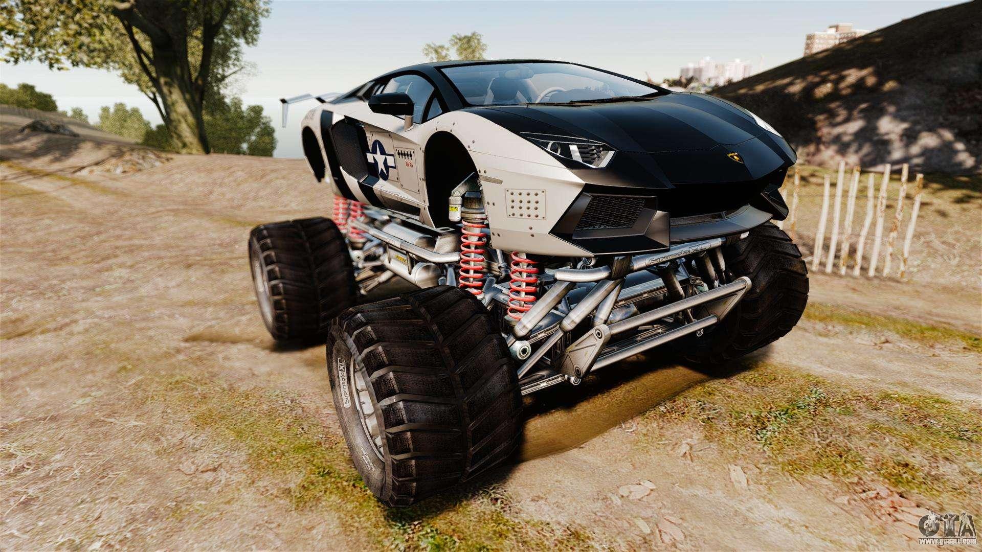 Lamborghini Aventador LP700 4 Monster Truck For GTA 4