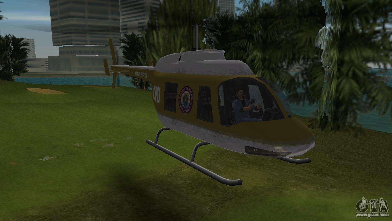 police helicopter from gta vcs for gta vice city. Black Bedroom Furniture Sets. Home Design Ideas