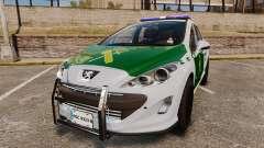 Peugeot 308 GTi 2011 Guardia Civil for GTA 4