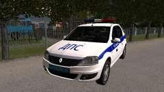 Renault Logan ДПС for GTA San Andreas