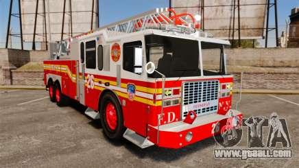 Ferrara 100 Aerial Ladder FDNY [working ladder] for GTA 4