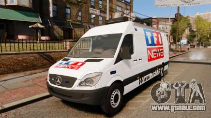 Mercedes-Benz Sprinter TF1 News [ELS] for GTA 4