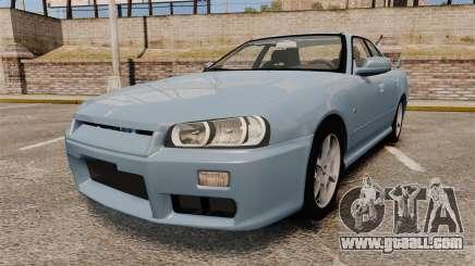 Nissan Skyline ER34 GT25 for GTA 4