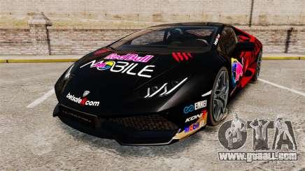 Lamborghini Huracan LP610-4 2014 Red Bull for GTA 4