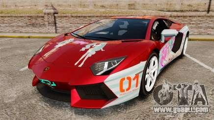 Lamborghini Aventador LP700-4 2012 [EPM] Miku 2 for GTA 4