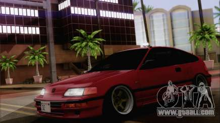Honda CRX Low Gang for GTA San Andreas