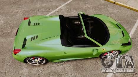 Ferrari 458 Spider Speciale for GTA 4 right view