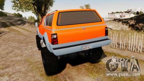 GTA V Vapid Sandking XL wheels v2 for GTA 4 back left view