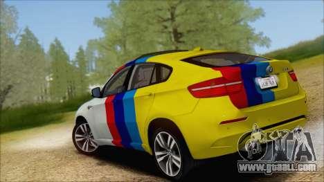 BMW X6M E71 2013 300M Wheels for GTA San Andreas bottom view