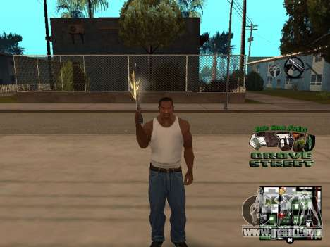 С-HUD Grove Street for GTA San Andreas forth screenshot