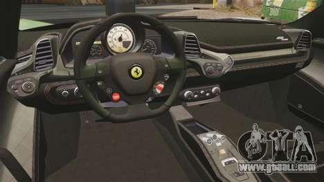 Ferrari 458 Spider Speciale for GTA 4 back view