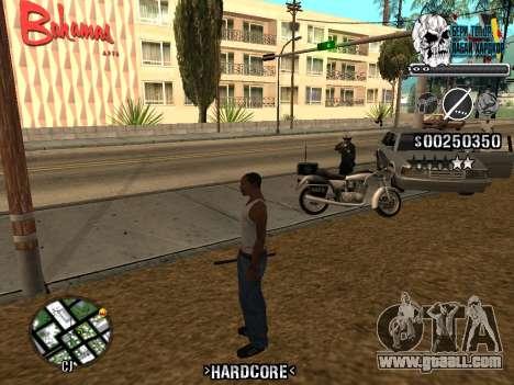 C-HUD Hardcore By KD for GTA San Andreas seventh screenshot