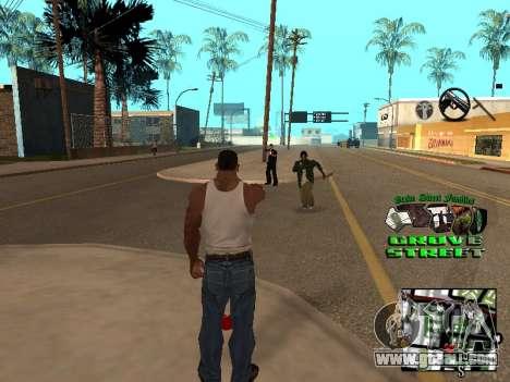 С-HUD Grove Street for GTA San Andreas second screenshot