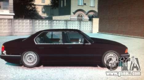 BMW 735iL E32 ver 2 for GTA 4 left view