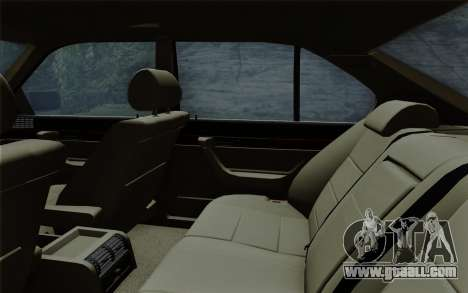 BMW 540i (E34) for GTA San Andreas bottom view