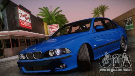 BMW E39 M5 2003 for GTA San Andreas back left view