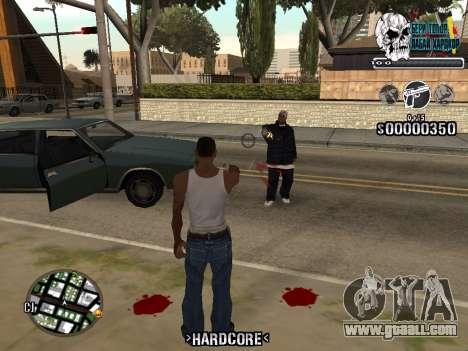 C-HUD Hardcore By KD for GTA San Andreas second screenshot