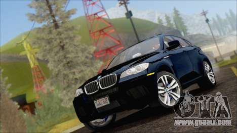 BMW X6M E71 2013 300M Wheels for GTA San Andreas back left view
