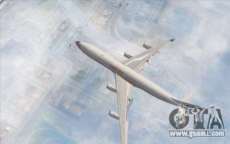 Airbus A340-300 China Eastern for GTA San Andreas back left view