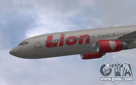 Lion Air Boeing 737 - 900ER for GTA San Andreas back left view