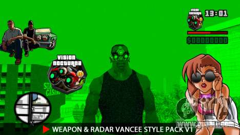 Weapon & Radar VanCee Style Pack v1 for GTA San Andreas twelth screenshot