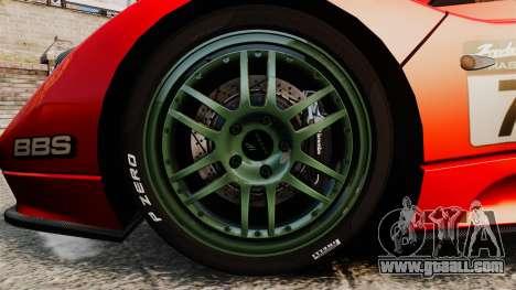 Pagani Zonda C12 S Roadster 2001 PJ6 for GTA 4 back view
