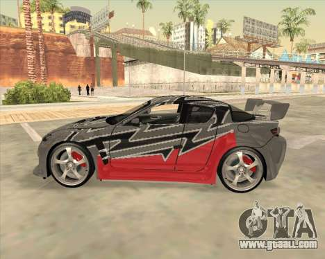 Mazda RX 8 из NFS Most Wanted for GTA San Andreas left view