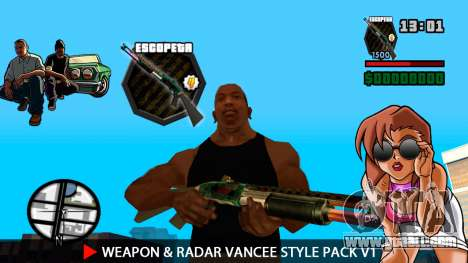 Weapon & Radar VanCee Style Pack v1 for GTA San Andreas fifth screenshot