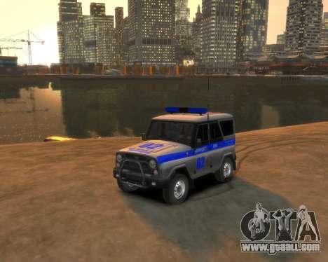 UAZ 315195 Hunter Police for GTA 4