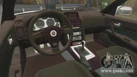 Nissan Skyline GT-R R34 Saitama Police for GTA 4 side view
