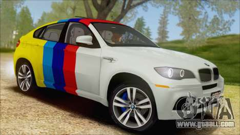BMW X6M E71 2013 300M Wheels for GTA San Andreas upper view