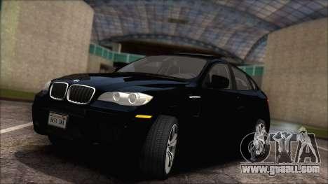 BMW X6M E71 2013 300M Wheels for GTA San Andreas inner view