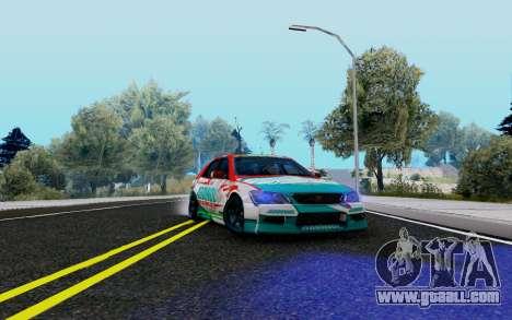 Toyota Altezza Addinol for GTA San Andreas back view