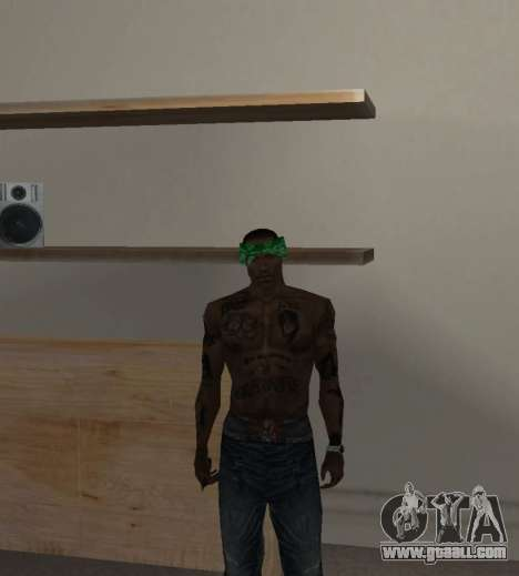 New bandanas for CJ for GTA San Andreas fifth screenshot