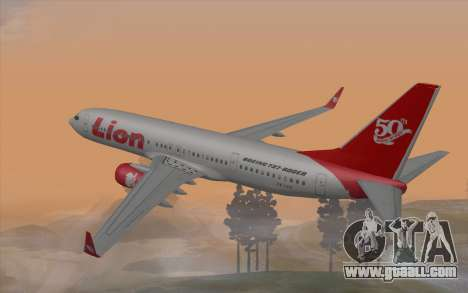 Lion Air Boeing 737 - 900ER for GTA San Andreas left view