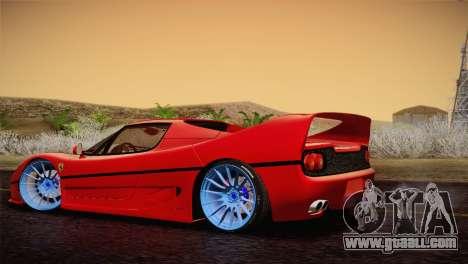 Ferrari F50 1995 for GTA San Andreas left view
