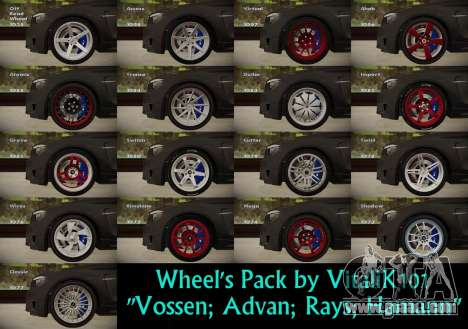 Wheels Pack by VitaliK101 for GTA San Andreas
