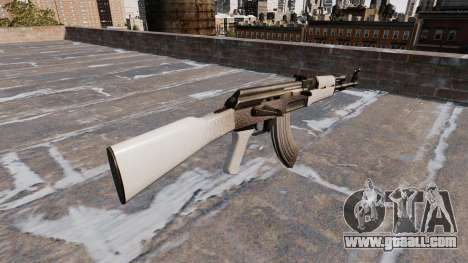 The AK-47 Chrome for GTA 4 second screenshot