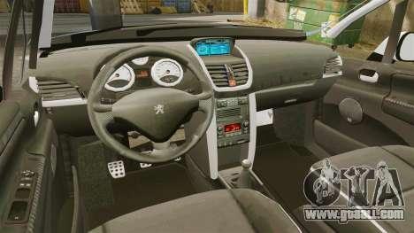 Peugeot 207 RC for GTA 4 inner view