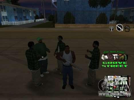 С-HUD Grove Street for GTA San Andreas fifth screenshot
