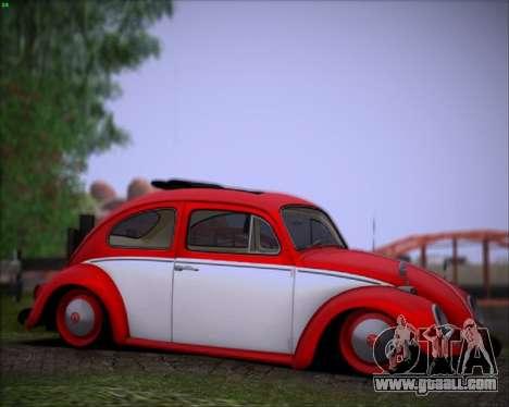 Volkswagen Beetle Stance for GTA San Andreas left view