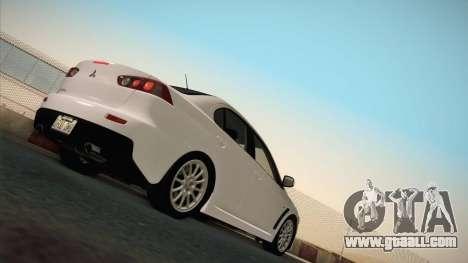 Mitsubishi Lancer Evolution for GTA San Andreas back view