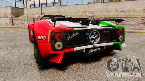 Pagani Zonda C12 S Roadster 2001 PJ6 for GTA 4 back left view