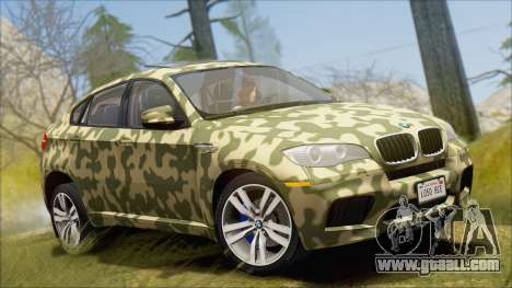 BMW X6M E71 2013 300M Wheels for GTA San Andreas interior