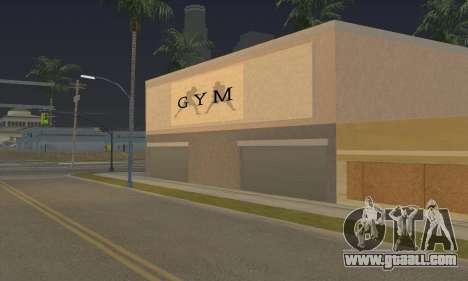 New gym for GTA San Andreas third screenshot