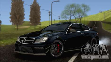 Mercedes C63 AMG Black Series 2012 for GTA San Andreas