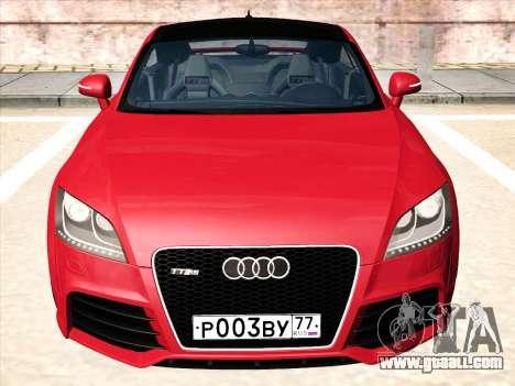 Audi TT RS 2010 for GTA San Andreas left view