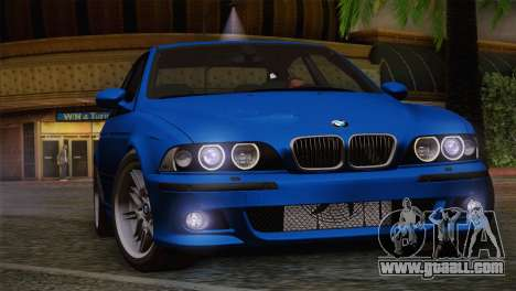BMW E39 M5 2003 for GTA San Andreas upper view